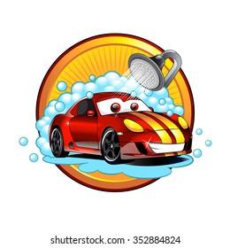Funny cartoon Car wash