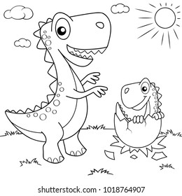 Dinosaur Coloring Page Images Stock Photos Vectors Shutterstock
