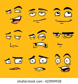 funny cartoon faces images stock photos vectors shutterstock