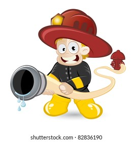 funny cartoon fireman