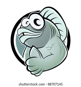 funny cartoon fish