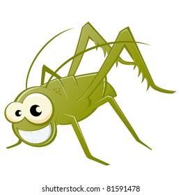 funny cartoon grasshopper