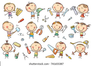 Kids Painting Nails Stock Illustrations Images Vectors Shutterstock