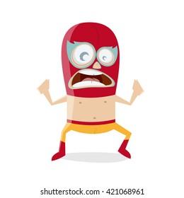funny cartoon luchador