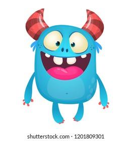 Funny cartoon monster character. Vector illustration