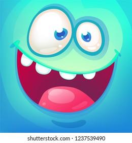 Funny cartoon monster face