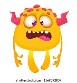Funny cartoon monster. Vector illustration of cute monster character