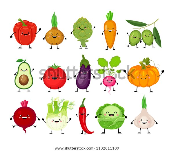 Vector De Stock Libre De Regalias Sobre Divertidos Dibujos Animados De Diferentes Verduras 1132811189 La zanahoria es la verdura más dulce y versátil perfecta para combinar con otras frutas y hortalizas como ingredientes para zumos. https www shutterstock com es image vector funny cartoon set different vegetables kawaii 1132811189