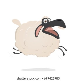 funny cartoon sheep