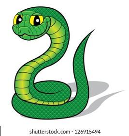 Funny cartoon snake