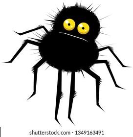 Funny cartoon spider vector illustration