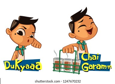 Funny cartoon sticker vector illustration 1