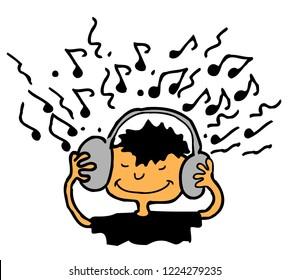 Listen Music Cartoon Stock Illustrations Images Vectors Shutterstock