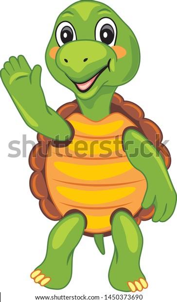 funny-cartoon-turtle-waving-paw-600w-145