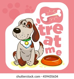 Funny cartoon vector dog