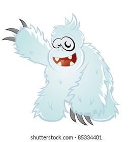 funny cartoon yeti