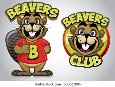 funny cartoon of young beaver