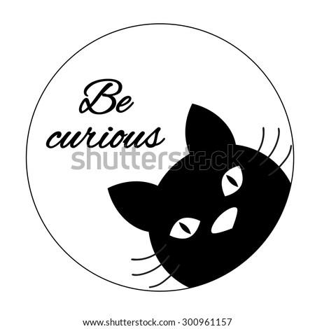 Funny Cat Card Design Cute Cat Stock Vector Royalty Free 300961157