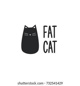Funny cat logo vector