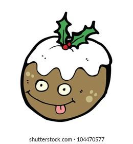 funny christmas pudding cartoon