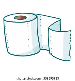 Funny and clean toilet tissue - vector.