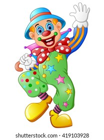 Funny clown on a white background