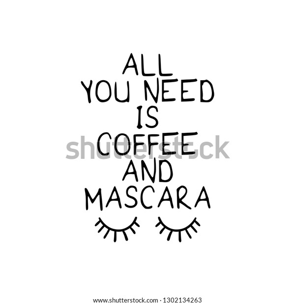 Funny Coffee Quote Concept Vector Illustration Stock Vector Royalty Free 1302134263