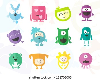 Funny Colored Characters