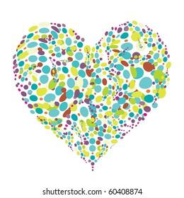 Funny colorful heart shape design