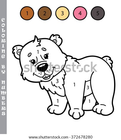 funny coloring by numbers game vector のベクター画像素材