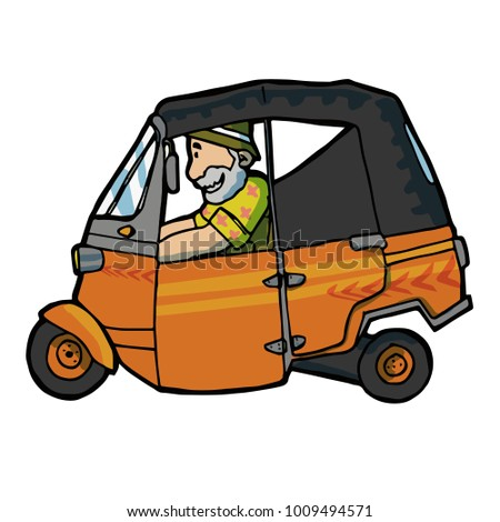 Funny Cool Old Man Drive Auto Stock Vector Royalty Free 1009494571