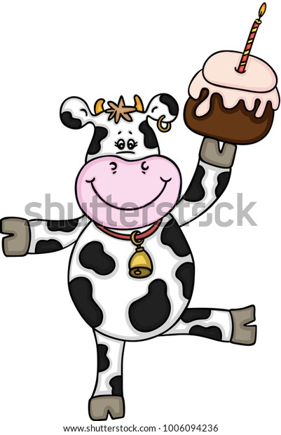 Miraculous Funny Cow Birthday Cake Stock Vector Royalty Free 1006094236 Birthday Cards Printable Riciscafe Filternl