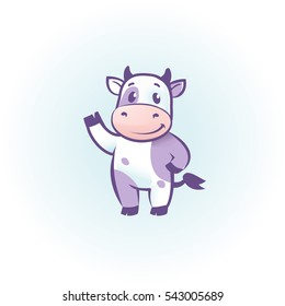 funny cow cartoon character Year of the Ox cartoon image design