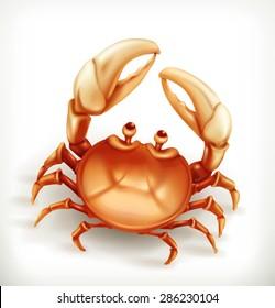 Funny crab, vector icon
