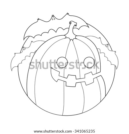 Funny Creature Halloween Coloring Book Stock Vector (Royalty Free ...