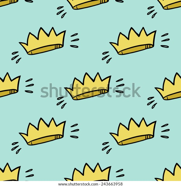 Funny Cute Cartoon Crown Vector Seamless Stock Vector Royalty Free 243663958 All of these cartoon crown resources are for free download on pngtree. https www shutterstock com image vector funny cute cartoon crown vector seamless 243663958