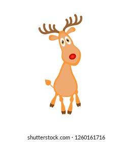funny cute cartoon deer. vector