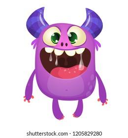Funny cute cartoon monster character. Vector illustration