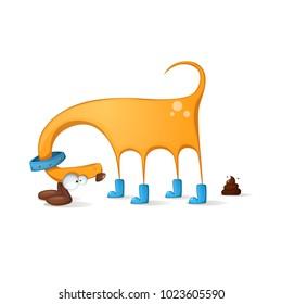 Funny, cute, crazy dog cartoon Vector eps 10