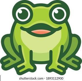 Funny Cute Frog Vector Illustration