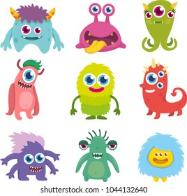 Funny Cute Little Monster Set