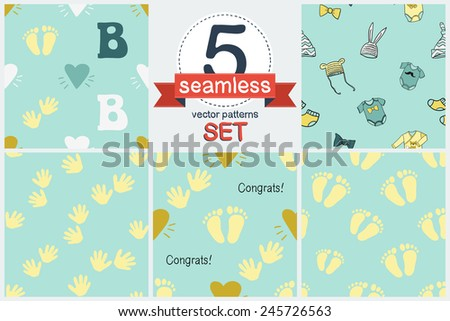 935e9df924f9 Funny Cute New Born Welcome Baby Stock Vector (Royalty Free ...