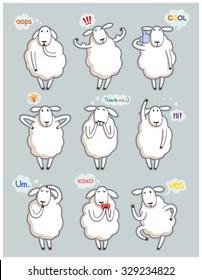 Funny cute sheep