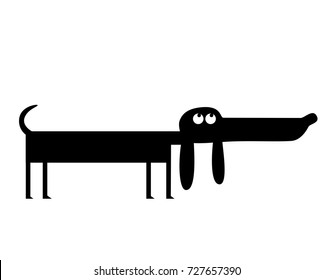 Funny dachshund dog illustration