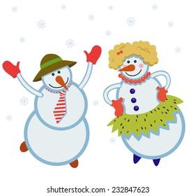 funny dancing snowmen