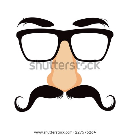 9e33de495596 Funny Disguise Mask Glasses Big Fake Stock Vector (Royalty Free ...