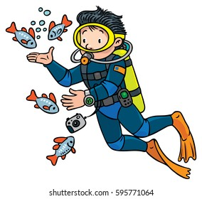 diving cartoon images stock photos vectors shutterstock
