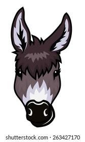 Funny donkey head.
