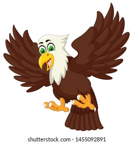 Funny Eagle Cartoon For Your Design