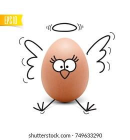 Funny Egg vector illustration